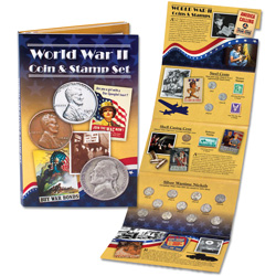 World War II Coin & Stamp Set