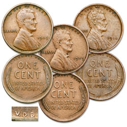 1909 & 1918 Lincoln Cent V.D.B. Transition Set