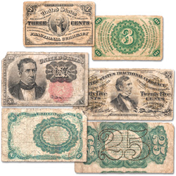 1862-1876 Fractional Note Set