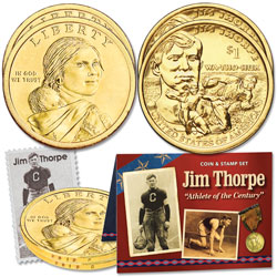 2018 Jim Thorpe Coin and Stamp Set