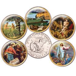 Colorized Bible Passages Eisenhower Dollar Set