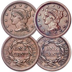 1856 Braided Hair Large Cent Set