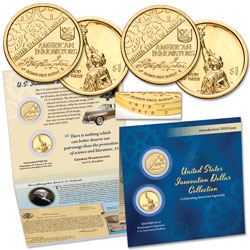 2018 P&D Washington's Signature U.S. Innovation Dollar Set