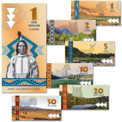 2019 Jamul Nation Native American Polymer Note Set