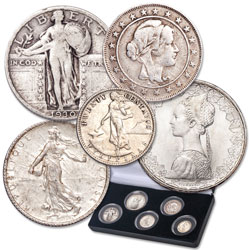 "1898-2001 Silver ""Liberty"" Collection with case"