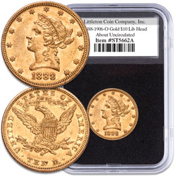 "1888-1906 ""O"" Mint Liberty Head $10 Gold Piece"