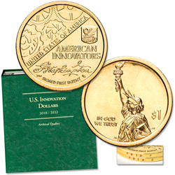 2018 P&D Washington's Signature U.S. Innovation Dollar Set with Album