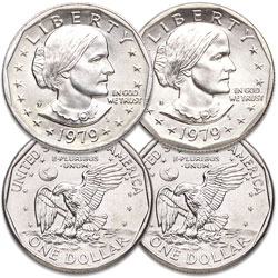 1979 P&D Susan B. Anthony Dollar Set