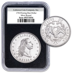 1794 Flowing Hair Dollar 1 oz. Silver Replica