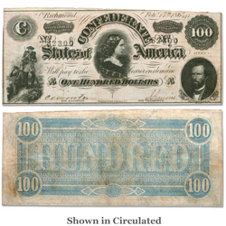 1864 $100 Confederate Note