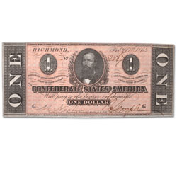 1864 $1 Confederate Note