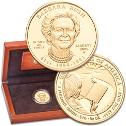 2020-W $10 Gold First Spouse - Barbara Bush