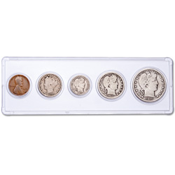 1910 5-Coin Year Set with Holder