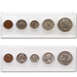 1939 Silver Year Set (5 coins)