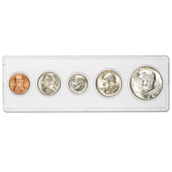 1969 5-Coin Silver Year Set with Holder, Uncirculated