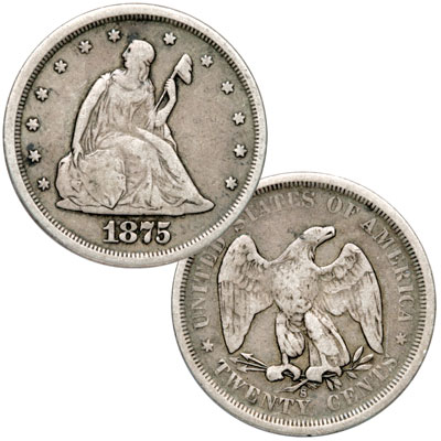 Image for 1875-S Twenty-Cent Silver Piece from Littleton Coin Company