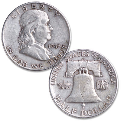 Image for 1948-D Franklin Half Dollar from Littleton Coin Company