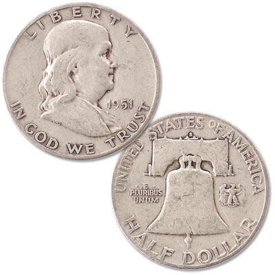 Image for 1951-S Franklin Half Dollar from Littleton Coin Company
