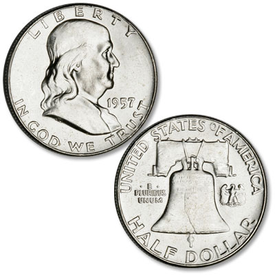 Image for 1957 Franklin Half Dollar from Littleton Coin Company