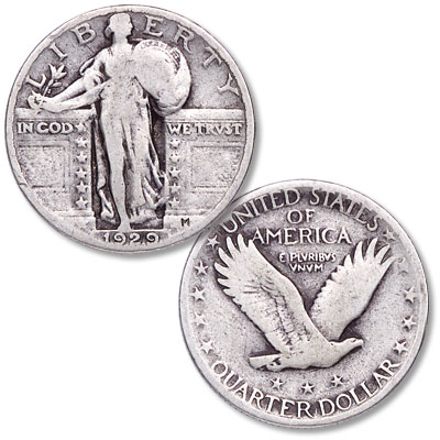 Image for 1929 Standing Liberty Silver Quarter from Littleton Coin Company