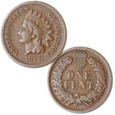 Image for 1877 Indian Head Cent, Variety 3, Bronze from Littleton Coin Company