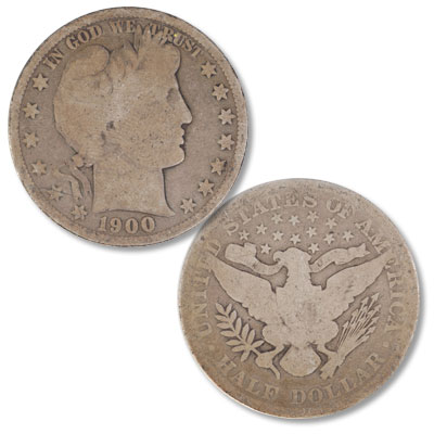 Image for 1900 Barber Silver Half Dollar from Littleton Coin Company