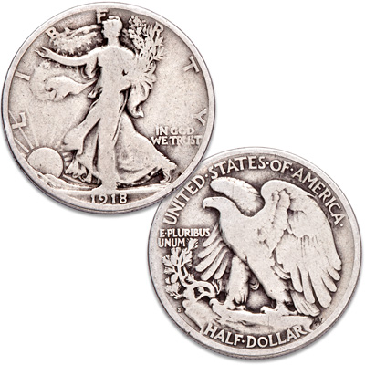 Image for 1918-S Liberty Walking Silver Half Dollar from Littleton Coin Company