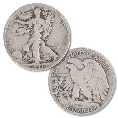 Image for 1933-S Liberty Walking Silver Half Dollar from Littleton Coin Company