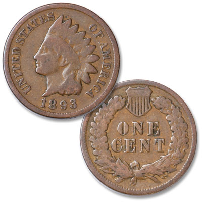 Image for 1893 Indian Head Cent, Variety 3, Bronze from Littleton Coin Company