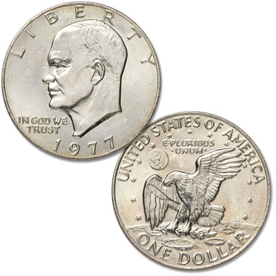 Image for 1977 Eisenhower Dollar, Copper-Nickel Clad from Littleton Coin Company