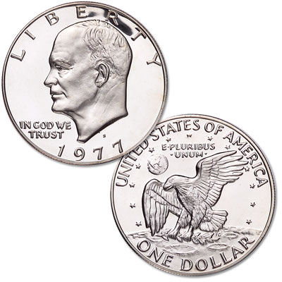 Image for 1977-S Eisenhower Dollar, Copper-Nickel Clad Proof from Littleton Coin Company