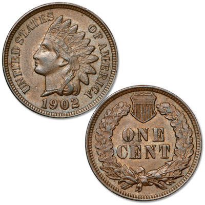 Image for 1902 Indian Head Cent, Variety 3, Bronze from Littleton Coin Company