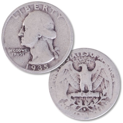 Image for 1935-S Washington Silver Quarter from Littleton Coin Company