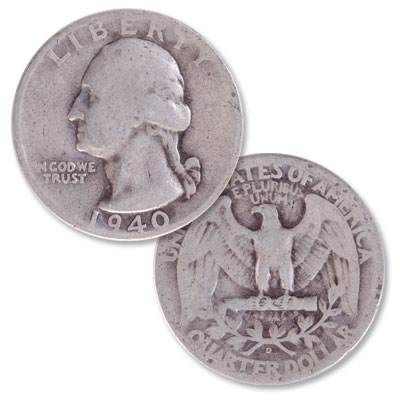 Image for 1940-D Washington Silver Quarter from Littleton Coin Company