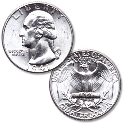 Image for 1941 Washington Silver Quarter from Littleton Coin Company