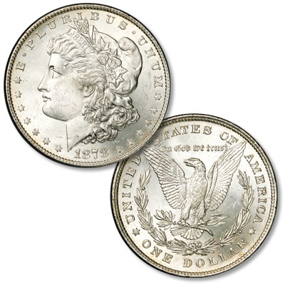 Image for 1878 Morgan Silver Dollar, 8 Tail Feathers from Littleton Coin Company