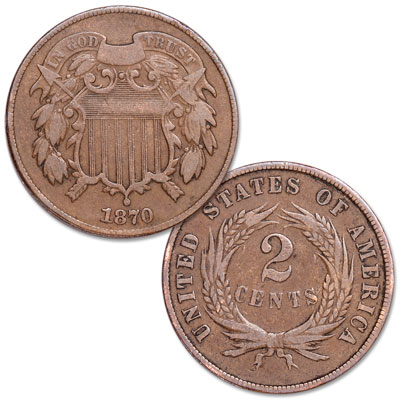 Image for 1870 Two-Cent Piece from Littleton Coin Company