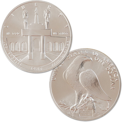 Image for 1984-S Los Angeles Olympiad Silver Dollar from Littleton Coin Company