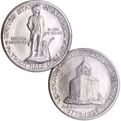 Image for 1925 Lexington-Concord Sesquicentennial Silver Half Dollar from Littleton Coin Company