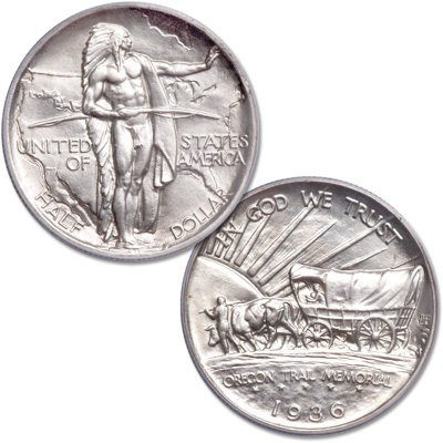 Image for 1936 Oregon Trail Memorial Silver Half Dollar from Littleton Coin Company