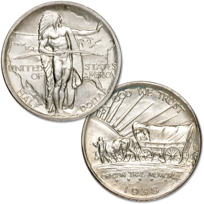 Image for 1938 Oregon Trail Memorial Silver Half Dollar from Littleton Coin Company