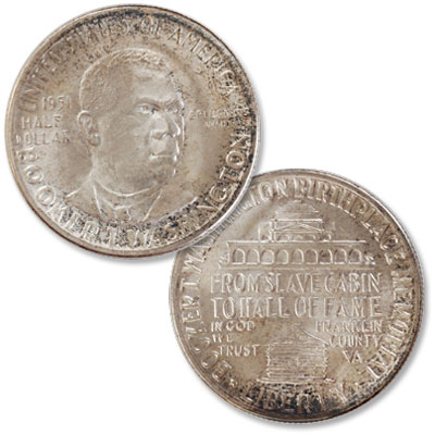 Image for 1951 Booker T. Washington Memorial Silver Half Dollar from Littleton Coin Company