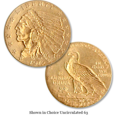 Image for 1912 Indian Head Gold Quarter Eagle from Littleton Coin Company
