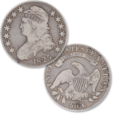 Image for 1825 Capped Bust Silver Half Dollar from Littleton Coin Company