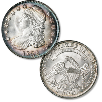 Image for 1834 Capped Bust Silver Half Dollar, Large Date and Letters from Littleton Coin Company