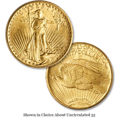 Image for 1914-S Saint-Gaudens $20 Gold Double Eagle from Littleton Coin Company