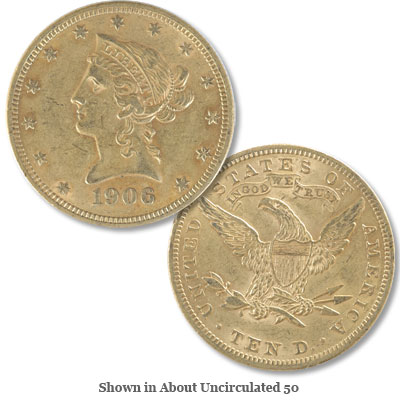 Image for 1906 Liberty Head $10 Gold from Littleton Coin Company