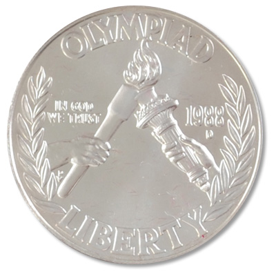 Image for 1988-D Seoul Olympiad Silver Dollar from Littleton Coin Company