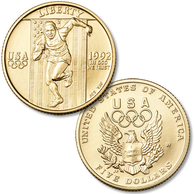 Image for 1992-W XXV Olympiad Gold $5 from Littleton Coin Company