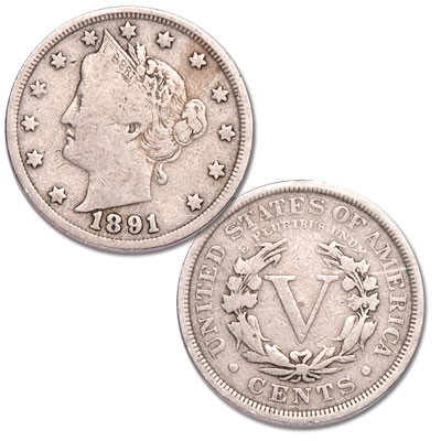 Image for 1891 Liberty Head Nickel from Littleton Coin Company
